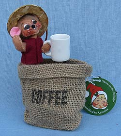 "Annalee 5"" Coffee Bean Mouse 2019 - Mint - 850019oxt"