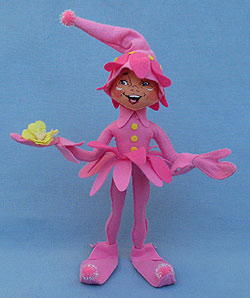 "Annalee 12"" Pink Spring Blossom Pixie Elf - Mint - 850515"