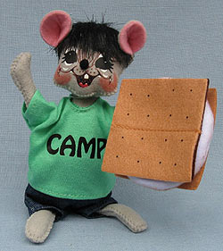 "Annalee 6""Smores Camping Mouse 2017 - Mint - 850917"