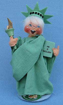 """Annalee 8"""" Statue of Liberty Kid - Mint - 851019yeah"""