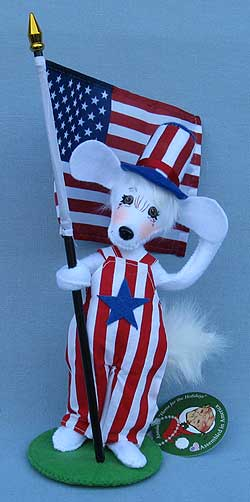 "Annalee 8"" Yankee Doodle Doggie Pup 2019 - Mint - 851319"