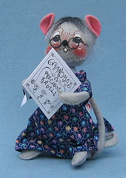 "Annalee 7"" Granny Grandma Mouse - Mint - 853499"