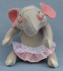 "Annalee 8"" Tina Ballerina Elephant - Very Good - 853800a"