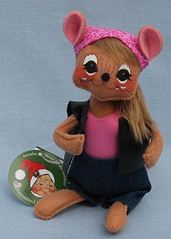 """Annalee 6"""" Motorcycle Biker Babe Mouse - Mint - 860015oxlong"""