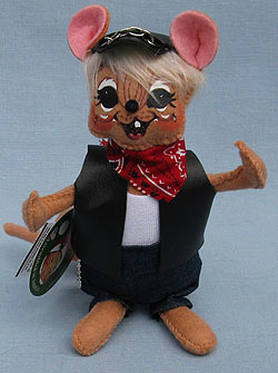 "Annalee 6"" Motorcycle Biker Dude Mouse - Mint - 860115bl"