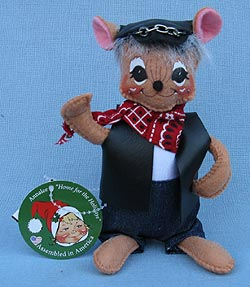 "Annalee 6"" Motorcycle Biker Dude Mouse - Mint - 860115ox"