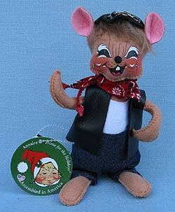 """Annalee 6"""" Motorcycle Biker Dude Mouse - Mint - 860115sq"""