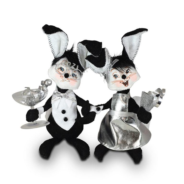 "Annalee 6"" 2021 New Year Bunnies - Mint - 862820"