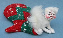 """Annalee 4"""" Kitten in Mitten - Mint - 866106"""