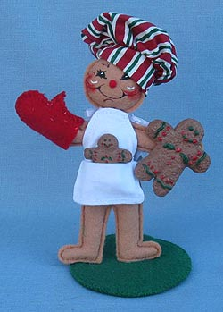 "Annalee 5"" Gingerbread Chef - Closed Mouth - Mint - 866506ox"