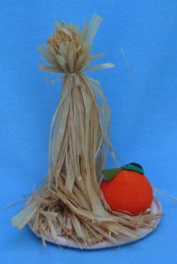 "Annalee 8"" Corn Stalks with Pumpkin - Mint - 902996"