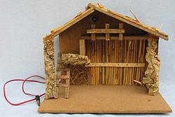 """Annalee 16"""" Lighted Nativity Creche Manger Barn - Near Mint"""