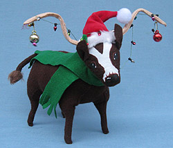 annalee 7 christmas lights longhorn bull mint 940212