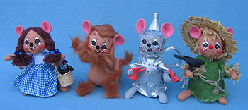 "Annalee 6"" Wizard of Oz Mice - Set of Four - Mint - 9430-943303"