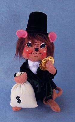 """Annalee 6"""" Dickens Frugal Scrooge Mouse - Mint - 943008"""