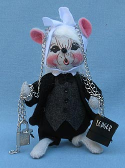 """Annalee 6"""" Dickens Jacob Marley Mouse - Mint - 943009"""