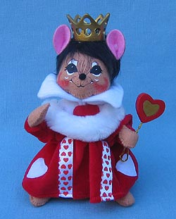 "Annalee 7"" Alice in Wonderland Queen of Hearts Mouse - Excellent - 943106a"
