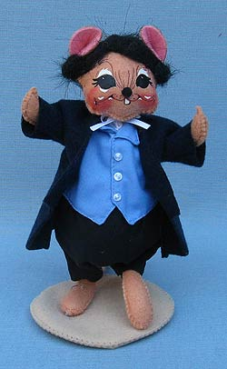 """Annalee 6"""" Dickens Mr Fezzywig Mouse - Mint - 943209oxt"""