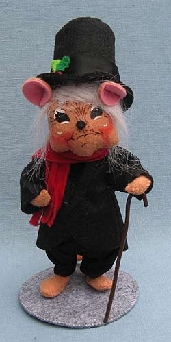 """Annalee 6"""" Dickens Unhappy Scrooge Mouse - Near Mint - 944611"""