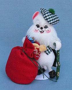 """Annalee 6"""" Irish Santa Mouse - Mint - 945004"""