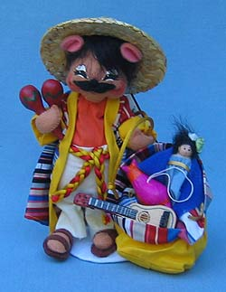 """Annalee 6"""" Mexican Mouse - Mint - 945304"""