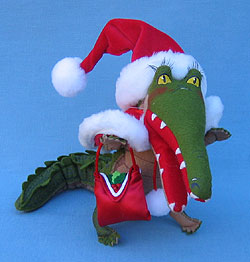 "Annalee 8"" Ms Santa Alligator Crocodile Shopping - Mint - 946507"
