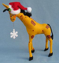 "Annalee 12"" Christmas Giraffe with Snowflake - Mint - 948310"