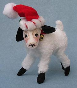 "Annalee 7"" Christmas Lamb - Mint - 948409"