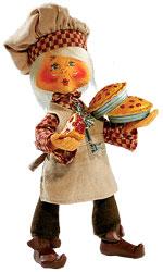 "Annalee 6"" Flaky the Pie Maker - Thimbles - Mint / Near Mint - 954403"