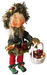 """Annalee 6"""" Laurel the Wreath Maker - Thimbles - Excellent - 956403a"""