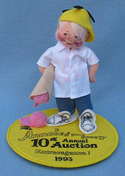 """Annalee 7"""" Ice Cream Kid Logo with Pin - Mint - Signed - 965393achip"""
