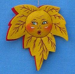 "Annalee 3"" Autumn Leaf Ornament - Mint - 973601ooh"