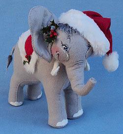 "Annalee 9"" Christmas Elephant - Mint - 980503"