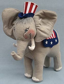 "Annalee 11"" Patriotic Elephant - Mint - 981503"