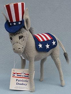 "Annalee 9"" Patriotic Donkey - Mint - 981703"
