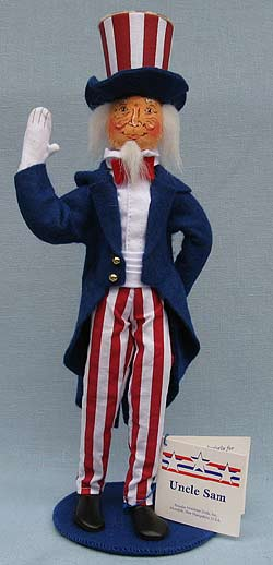 "Annalee 13"" Uncle Sam - Mint - 982302"