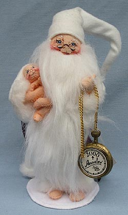 """Annalee 10"""" New Years Father Time Holding Baby - Very Good - 985700a"""