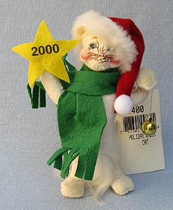 """Annalee 4"""" Holiday Cheer Cat - Very Good - 987400a"""