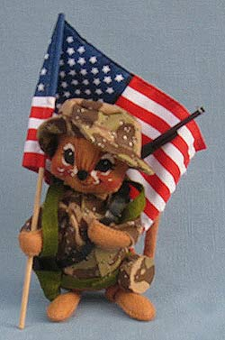 """Annalee 7"""" Desert Storm Soldier Mouse - Closed Mouth - Near Mint  - 993191ox"""