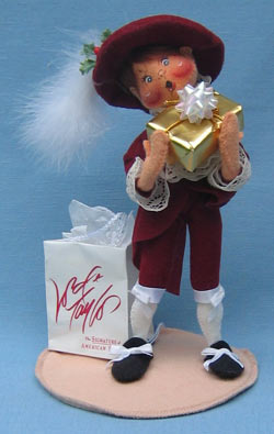 """Annalee 10"""" Little Lord Taylor Boy II - Cranberry Outfit - Mint - 993497ooh"""