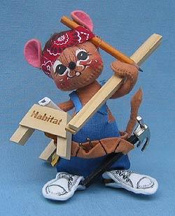 "Annalee 7"" Habitat Carpenter Mouse - Mint - 995493"