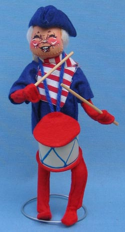"""Annalee 10"""" Patriotic Colonial Drummer Boy - Mint - A304-76xtong"""