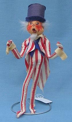 "Annalee 10"" Patriotic Uncle Sam - Very Good - A316-76b"