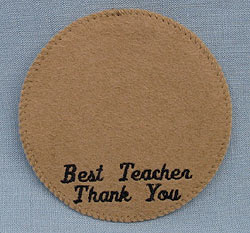 """Annalee 4"""" Best Teacher Thank You Personalized Base - Mint"""