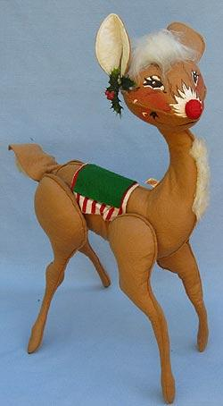 "Annalee 18"" Reindeer or Doe - Near Mint - Red Nose - C144-72sq"