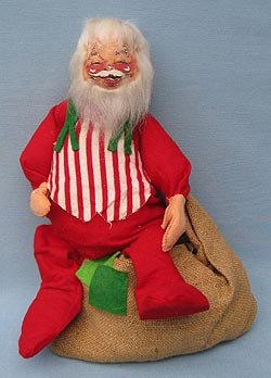 "Annalee 18"" Santa with Sack - Mint - C37-72"