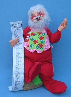 "Annalee 18"" Santa with Gift List & Sack - Mint - C37-73"