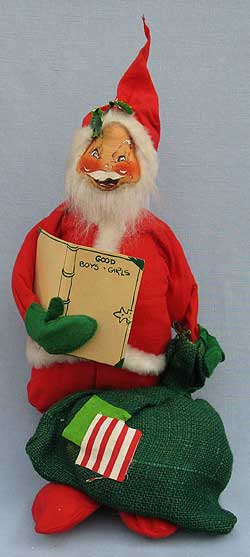 "Annalee 18"" Santa with Gift List & Sack - Excellent - C37-75"