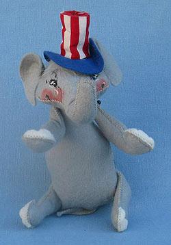 "Annalee 8"" Patriotic Elephant - Mint- C47-68-1"
