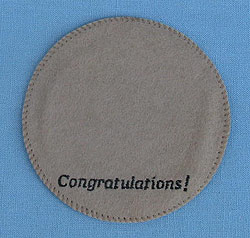 """Annalee 4"""" Congratulations Personalized Base - Mint"""